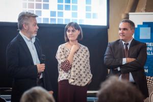 Luca Sofri, Erika D'Arcangelo e Marcello Carrozzino