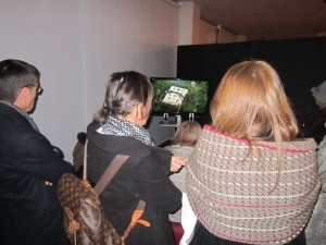Una delle postazioni video inserite nel percorso della Mostra