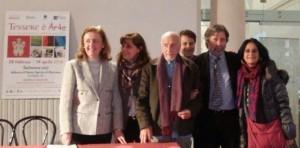 Da sinistra: Paola Marabelli, Erika D'Arcangelo, Italo Picini, Ermanno de Pompeis, Francesco Tentarelli e Adriana Gandolfi